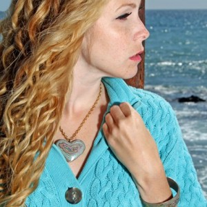 Indigo Child Abby Oliver wearing jewelry by artist Thomas Dale Christiansen
